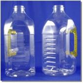 公模空白瓶2.6L方型透明瓶黃把