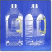 公模空白瓶3L方型淺黃把