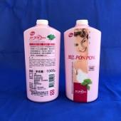 澎澎1000g滋潤型沐浴乳 (女性) 銀杏+海藻白色瓶收縮膜(外銷)