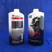 澎澎850g元氣炭沐浴乳(男性)白色瓶收縮膜