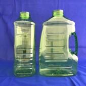 妙管家3200ml空瓶 透明黃綠瓶,透明重綠把