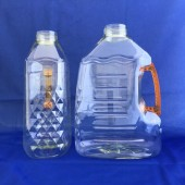 獅王洗碗精3L-空瓶  透明黃瓶,透明橘色把(PET)