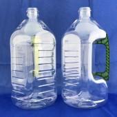 新建美油瓶2L(正義型)  透明瓶,墨綠手把 (PET)方型
