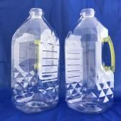 泰山3.5L晶鑽瓶  透明淺黃手把