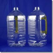 統一油瓶2L方型透明黃直立手把